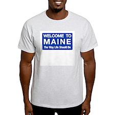 Welcome to Maine - USA Ash Grey T-Shirt