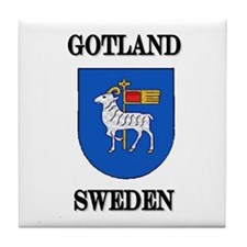 The Gotland Store Tile Coaster