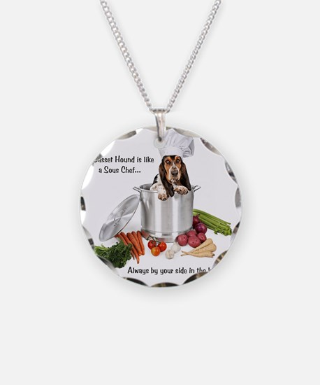 Basset Hound Sous Chef Necklace