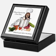 Basset Hound Sous Chef Keepsake Box