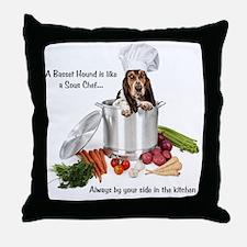 Basset Hound Sous Chef Throw Pillow