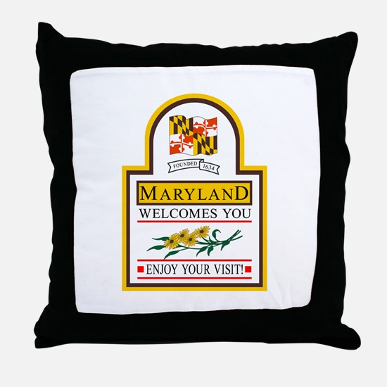 Welcome to Maryland - USA Throw Pillow