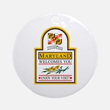 Welcome to Maryland - USA Ornament (Round)