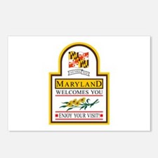 Welcome to Maryland - USA Postcards (Package of 8)