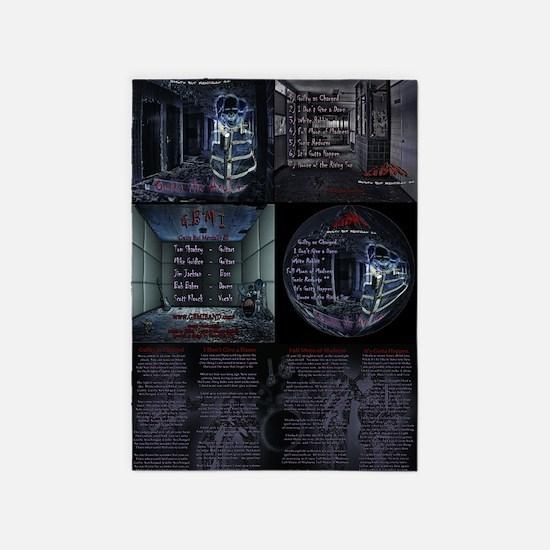 - Outta the Asylum Poster 24x36 5'x7'Area Rug