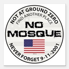 "august_no_mosque Square Car Magnet 3"" x 3"""