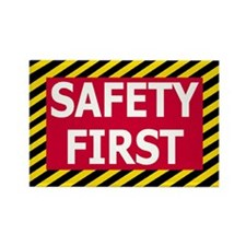 Safety First<BR> Rectangle Magnet
