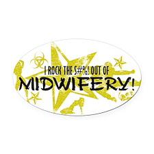 MIDWIFERY Oval Car Magnet