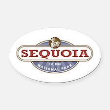 Sequoia National Park Oval Car Magnet