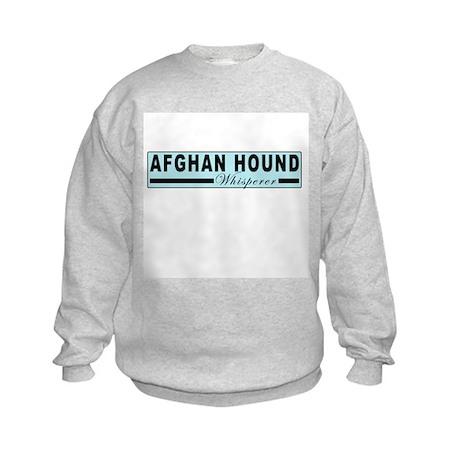 Afghan hound whisperer Kids Sweatshirt