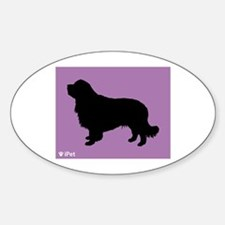 Clumber iPet Oval Decal