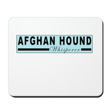 Afghan hound whisperer Mousepad