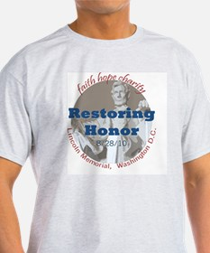 2-Restoring Honor 3 button T-Shirt