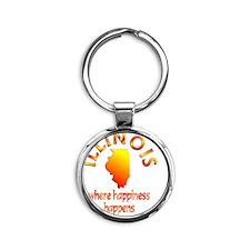 ILLINOIS Round Keychain