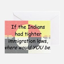 Immigration Laws Greeting Card