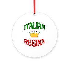 Italian Regina (Italian Queen) Ornament (Round)