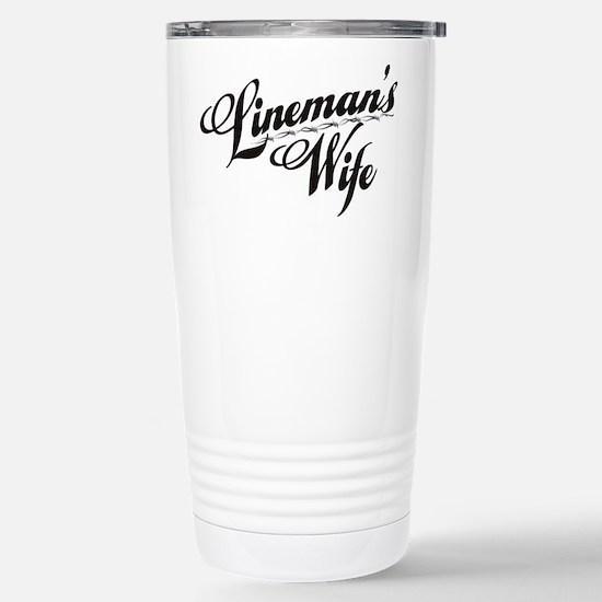 linemans wife black Stainless Steel Travel Mug