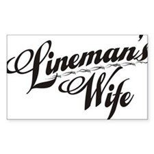 linemans wife black Decal