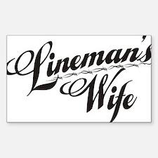 linemans wife black Decal