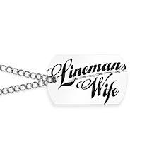 linemans wife black Dog Tags