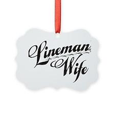linemans wife black Ornament