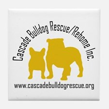 F & B Yellow Logo Tile Coaster