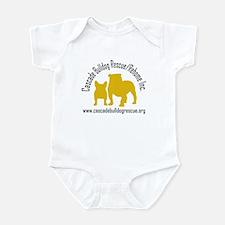 F & B Yellow Logo Infant Bodysuit