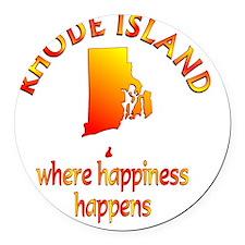 RHODE ISLAND Round Car Magnet