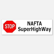 Democrat: Stop the NAFTA SuperHighWay (Bumper)