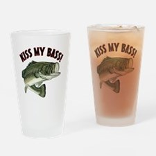 Kiss My Bass Drinking Glass