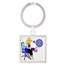 julie Square Keychain