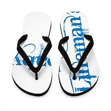 2-lineman cowboy7 blue Flip Flops