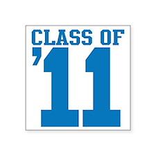 "class-2011-blue Square Sticker 3"" x 3"""