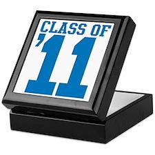 class-2011-blue Keepsake Box