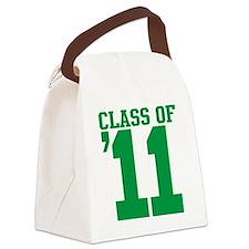 class-2011-green Canvas Lunch Bag