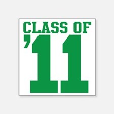 "class-2011-green Square Sticker 3"" x 3"""