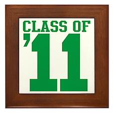 class-2011-green Framed Tile