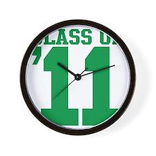 class-2011-green Wall Clock