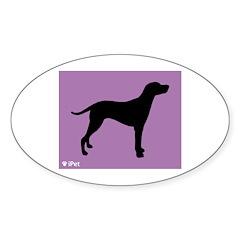 Dalmatian iPet Oval Sticker