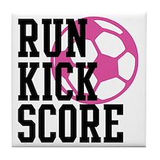 run-kick-score Tile Coaster