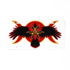 Crow Triple Goddess - Fire Aluminum License Plate