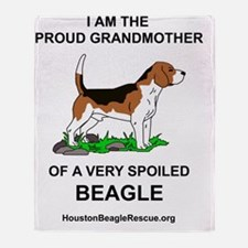 13beaglegrandmother Throw Blanket