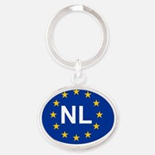 sticker NL blue Oval Keychain