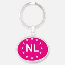 sticker NL pink Oval Keychain