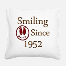 smiling 52 Square Canvas Pillow