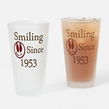 smiling 53 Drinking Glass