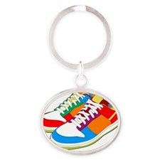 Cool sneakers Oval Keychain