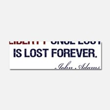 Liberty-Once-Lost-(white-shirt) Car Magnet 10 x 3