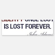 Liberty-Once-Lost-(white-shirt) Bumper Bumper Sticker