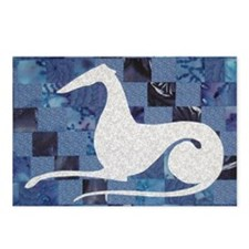 White on Blue Postcards (Package of 8)